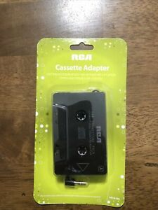 RCA HPCA100 Auto Car Cassette Adapter for iPhone Smartphone IPOD MP3  SEALED