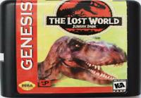 Lost World Jurassic Park 16 Bit Game Card Cartridge For Sega Mega Drive Genesis