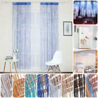 Hanging Bead Curtain String Door Window Curtains Tassel Fly Screen Panel DS
