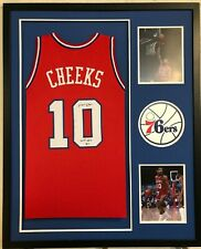 bc0c2dc710a5 FRAMED PHILADELPHIA 76ERS MAURICE MO CHEEKS SIGNED INSCIRBED JERSEY BECKETT  COA