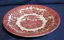 Royal Worcester, Untertasse 15 cm, Avon Scenes  Palissy rot, weitere Keramik