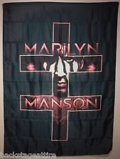Marilyn Manson Double Cross Cloth Poster Flag Fabric Tapestry Wall Banner-New!