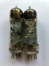 Mullard EL84 matched pair valves