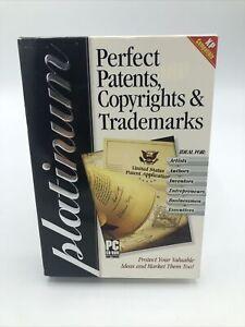 Platinum Perfect Patents, Copyrights & Trademarks Software - Windows 98 / XP