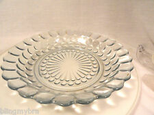 """Blue Bubble Depression Glass 7 3/4""""  Coupe Low Soup Bowl"""