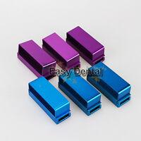 Aluminum Bur Holder 30holes FG RA Bur Burs Holder Dental Bur Block Blocks - 6pcs