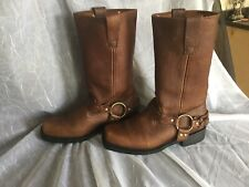 Woman's Masterson Brown Leather RB2501W Harness/Motorcycle Boots Size 10M