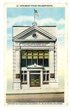 Wilmington DE -ARTISANS' SAVINGS BANK BUILDING-505 MARKET STREET- Postcard
