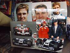 "COLLECTION OF 7 x 12"" x 8"" RALF SCHUMACHER F1 PHOTO PRINTS WILLIAMS TOYOTA"