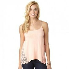 NEW* ROXY SURF TANK TOP CAMI SHIRT Size S Coral Melon $45 Retail Lace Crochet