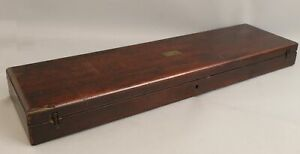 19thC Antique Dovetailed Velvet Lined Mahogany Gun Case NO RESERVE