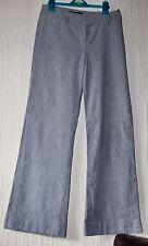 GREAT PLAINS Grey Pink Pinstripe Linen Blend Wide Leg Trousers Lined UK 8 30L