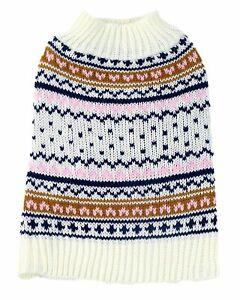 Midlee Berklee Fair Isle Dog Sweater