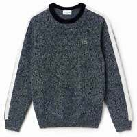 New Lacoste Crew Neck Merino Wool Jumper RRP £165 Made in France Size 8 3XL BNWT