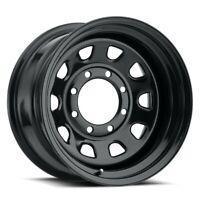 "15"" Vision 84 D Window Black Wheel 15x7 5x5.5 -6mm Ford 5 Lug 84H5785NS Rim"