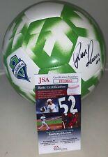 Raul Ruidiaz signed Seattle Sounders F/S Full Size Logo Soccer Ball MLS JSA