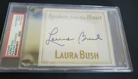 Signed Autographed First Lady Laura Bush Bookplate PSA Authenticated