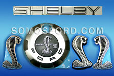 SHELBY EMBLEM BLACK KIT OEM NEW SNAKE BLACK COBRA MUSTANG SHELBY  2007-2009
