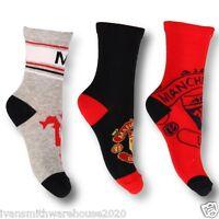 Socks Manchester United Childrens Boys / girls  Football 3 Pack Fully Licenced