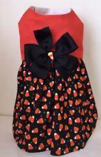 Happy Halloween Candy Corn Dog Dress Size Small Pet