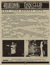 R.E.M. Fanclub Newsletter July 1994
