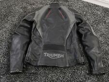 Triumph Leather Motorcycle Bike Jacket Armoured Slim Fit Size S (CH) Quite Rare