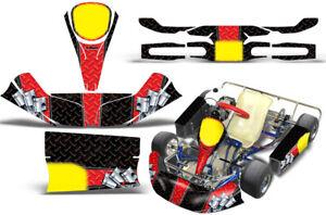 Go-Kart Graphics kit Decal for KG Kids Kart Diamond Race Red Black