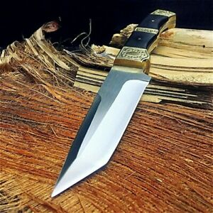 Collectible Fixed Blade Handmade Knife Hand Forged Steel Tactical Survival Tanto