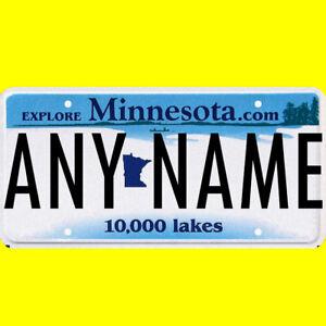 Ride-on battery powered vehicle license plate - custom Minnesota design