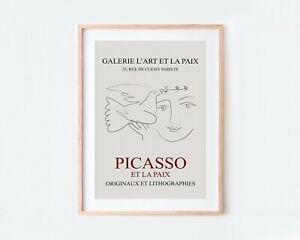 Picasso Dove of Peace L'Art et la Paix Museum Exhibition Poster Art Print S271