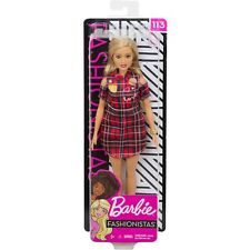 BARBIE Fashionistas Doll #113  New 2019 RED PLAID LOVE DRESS