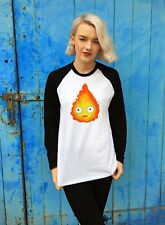 Calcifer Baseball T-Shirt  | Cool Howl's Moving Castle Jersey Studio Ghibli