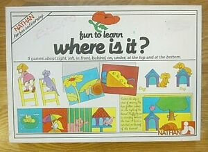 Fun to learn where is it?  Educational Games NATHAN 1986 Made in France