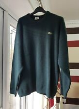 Men's VINTAGE Lacoste Jumper Size 7 (XL) Green - NEW