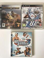 PS3 Game Bundle - Madden NFL 13 + Motorstorm + Virtua Tennis 3 - (891)