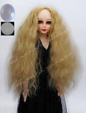 "6-7"" 1/6 BJD Wig Dollfie Curly SD LUTS Doll Blonde DZ DOD MSD Soom Hair Long UAL"