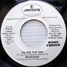 QUICKSAND pop rock 45 promo DA DOO RON RON 2:41 double-A side MONO vg++cond F446