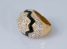 CC Skye Gold Plated 18k Yellow Cracked Egg Ring size 6