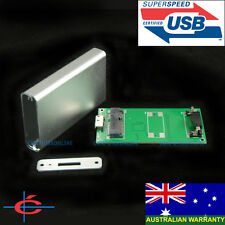 50mm mSATA to USB 3.0 External Drive SSD HDD Case Enclosure - Aluminium