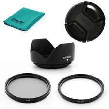 58mm Lens HOOD WITH MCUV, CPL Filters,CAP for Canon EOS Digital Rebel 600D T3i