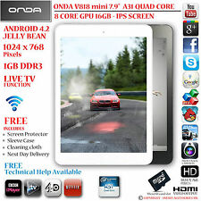 "ONDA V818 Mini 7.9 ""IPS 16GB A31 QUAD CORE 4.2 Android Tablet PC-HDMI"