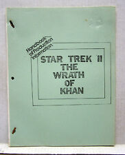 1982 STAR TREK II WRATH OF KHAN Handbook of Production Information (L9751)