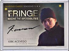 Fringe 3 & 4 Cryptozoic Autograph A8 Kirk Acevedo