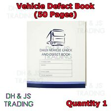 50 Page Driver Defect Book Daily Duplicate Defect Checkbook Book VOSA Approved