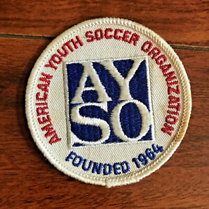 Vintage AYSO American Youth Soccer Organization Founded 1964 Patch RARE EUC