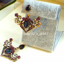 Ear Jackets,Ear cuff,Ear climbers,Sapphire Ruby studs,Hoop Huggies,Drop Earrings