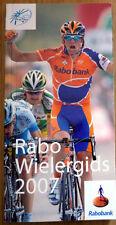 Cyclisme - livret Équipe RABOBANK année 2007