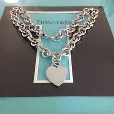 "Tiffany & Co. Return To Heart Chain Necklace  16"" Long $475/new Authentic"