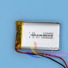 10pcs 103450 3.7V Li-Polymer Rechargeable Battery Li-ion LiPo for GPS 2000mAh