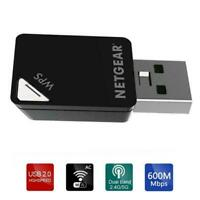 1* 600Mbps Mini A6100 Wifi USB Adapter Dual band Wireless Receiver D9U8 T1Y5